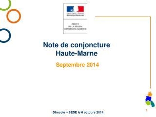 Note de conjoncture Haute-Marne