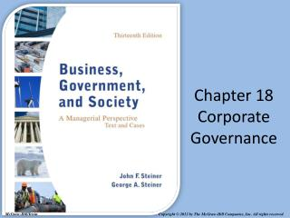 Chapter 18 Corporate Governance