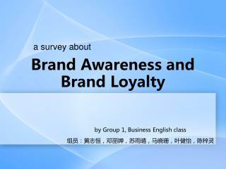 Brand Awareness and Brand Loyalty