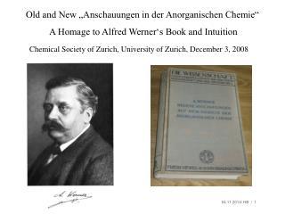 Old and New �Anschauungen in der Anorganischen Chemie�
