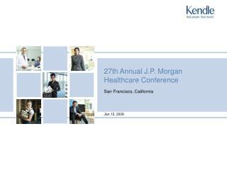 27th Annual J.P. Morgan Healthcare Conference
