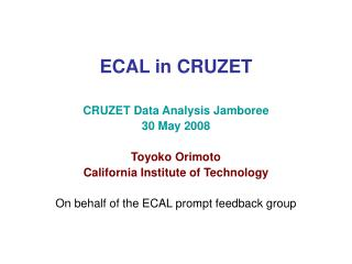 ECAL in CRUZET