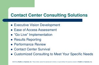 Contact Center Consulting Solutions