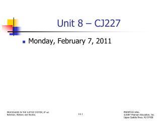 Unit 8 – CJ227