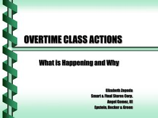 OVERTIME CLASS ACTIONS