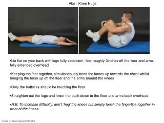 Abs - Knee Hugs