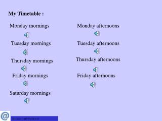 My Timetable :