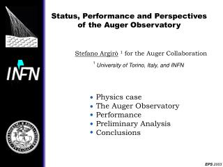 Status, Performance and Perspectives of the Auger Observatory