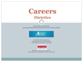 Careers  Dietetics