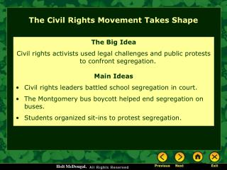 The Civil Rights Movement Takes Shape