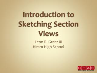 Introduction to Sketching Section Views
