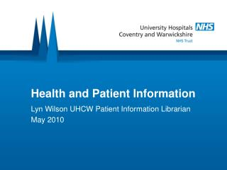 Health and Patient Information