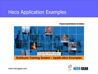 Heco Application Examples