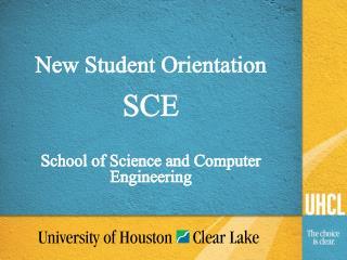 New Student Orientation SCE