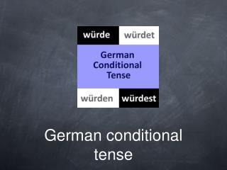 German conditional tense