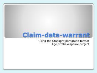 Claim-data-warrant
