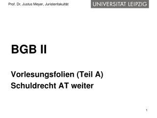 Prof. Dr. Justus Meyer, Juristenfakult�t