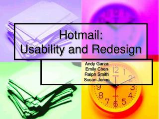 Hotmail: Usability and Redesign