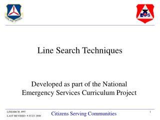 Line Search Techniques