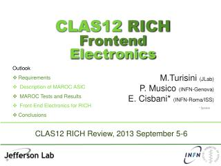 CLAS12  RICH  Frontend  Electronics