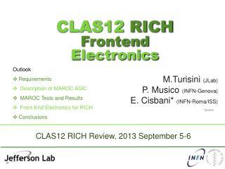 CLAS12  RICH  Frontend  Electronics