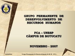 Grupo Permanente de Desenvolvimento de R. H. - FCA