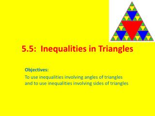 5.5:  Inequalities in Triangles