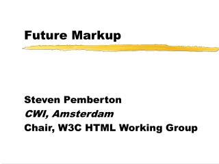 Future Markup