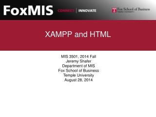 XAMPP and HTML