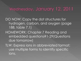 Wednesday , January 12, 2011