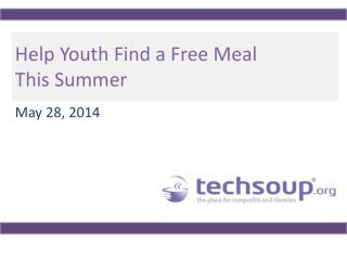 Help Youth Find a Free Meal This Summer