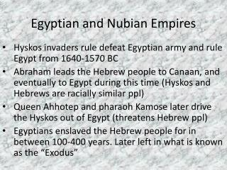Egyptian and Nubian Empires