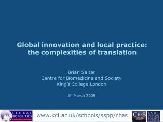 Global innovation and local practice: the complexities of translation