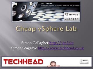 Cheap  vSphere  Lab