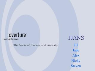 - The Name of Pioneer and Innovator