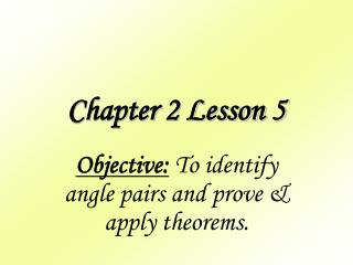 Chapter 2 Lesson 5