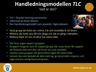 Handledningsmodellen  TLC