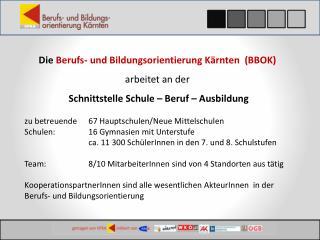 Die  Berufs- und Bildungsorientierung Kärnten  (BBOK) arbeitet an der
