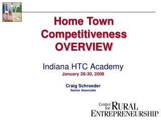 Home Town Competitiveness OVERVIEW
