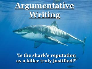 'Is the shark's reputation as a killer truly justified?'