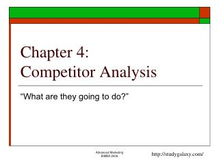 Chapter 4: Competitor Analysis