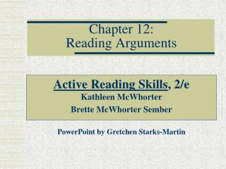 Chapter 12: Reading Arguments