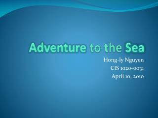 Adventure  to the  Sea