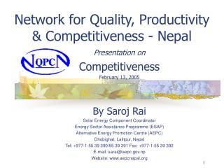 Network for Quality, Productivity & Competitiveness - Nepal