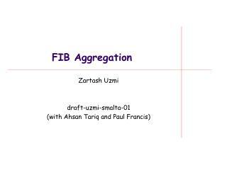FIB Aggregation