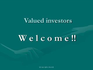 Valued investors