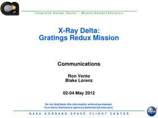 X-Ray Delta:   Gratings  Redux  Mission