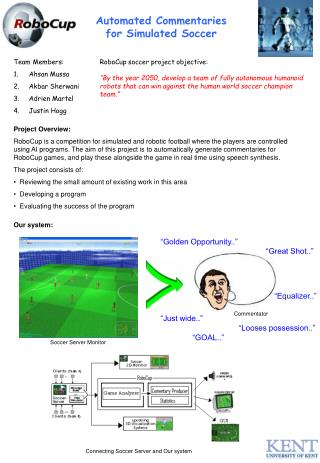 Automated Commentaries for Simulated Soccer