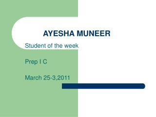 AYESHA MUNEER