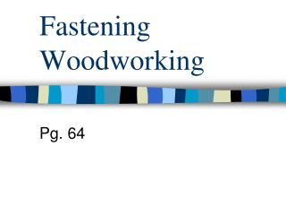 Fastening Woodworking
